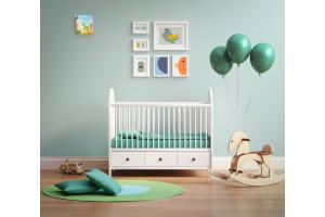 """Ein """"DesignFan""""-Wohnraumlüftungssystem in einem Kinderzimmer."""