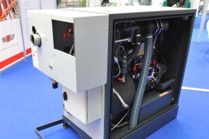Wolf Power Systems stellte das neue BHKW-Modul mit 20 kW elektrischer Leistung vor.