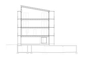 "Querschnitt des Mehrfamilienhauses ""NESt4""."