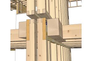 """Zeichnung eines Stockwerksübergangs im  Mehrfamilienhaus """"NESt4""""."""