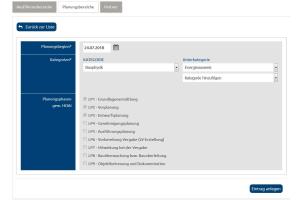 Screenshot des Leistungsprofils für die Planungpartnersuche auf www.project–team-finder.de.