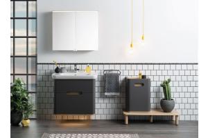 """Der """"Sento""""-Waschtischunterschrank von VitrA Bad in einem Badezimmer."""