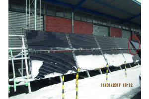 Schnee PV-Modulen.