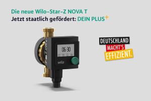 """Die Trinkwarmwasser-Zirkulationspumpe """"Wilo-Star-Z NOVA T"""" von Wilo."""