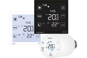 Die blossom-ic Thermostate sind auf eine effiziente Heizungssteuerung ausgelegt. Touchpad-Technologie, Bewegungssensoren und modernes Design sorgen für eine einfache Bedienung.