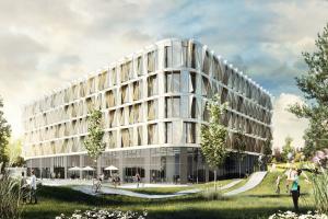 Die Europazentrale der amerikanischen Sportmarke Scott in der Schweiz ist ein gutes Beispiel dafür, wie der Open BIM-Gedanke mit Leben erfüllt werden kann. Architekten und Fachplaner arbeiteten mit ihren spezifischen Software-Lösungen. Ihre Teilplanungen wurden dann im Gebäudemodell zusammengeführt.