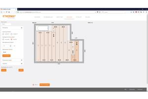 Räume und Einrichtungsgegenstände können individuell erstellt und ausgewählt werden und bilden die Grundlage für einen korrekten Verlegeplan. Innerhalb weniger Sekunden wird die optimale Verlegelösung erstellt und kalkuliert.