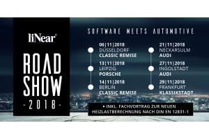 Die Termine und Veranstaltungsorte der liNear Roadshow 2018.
