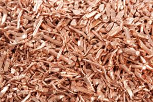 Kupferrohstoff für die Herstellung von Rohren.