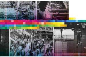 Collage verschiedener Bilder zum Thema Hallenheizung.