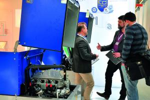 EC Power präsentierte sein Leistungsspektrum an Mini-BHKW Anlagen vom Typ XRGI.