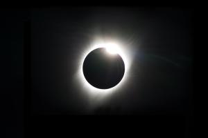 Bild einer Sonnenfinsternis.