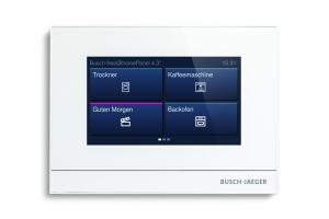 """Bedienfeld """"Busch-tacteo"""" für das Busch-Jaeger Smart Home-System."""