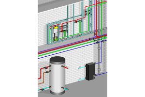 """Schema des Trinkwasser-Management-System """"AquaVip Solutions""""."""