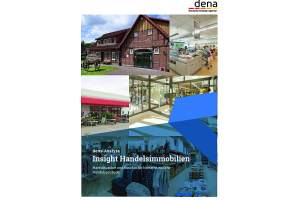 "Cover der dena-Analyse ""Insight Handelsimmobilien."""