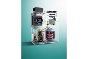 Haustechnikzentralen verbinden die Technologien Wärmepumpe, Warmwasserspeicher, zentrale Lüftungsanlage, Hydraulik, Pumpen, Regelung etc. in einem gemeinsamen Gehäuse und sorgen so – auch optisch –  für aufgeräumte Verhältnisse.