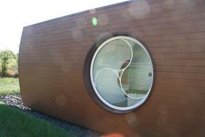 Das Fenster eines Fertighauses der Hanse Haus GmbH.
