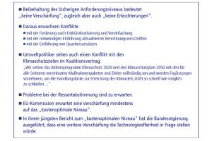 Anforderungsniveau und Konflikte des GEG im Überblick.