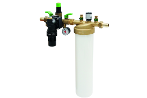 Die Aufbereitungsgruppe sorgt mit der im Lieferumfang enthaltenen Füllpatrone  für die Vollentsalzung des Heizwassers zur Neubefüllung und Nachspeisung.