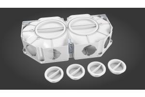profi-air Flachverteiler 6-fach aus Kunststoff