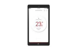 "Smartphone-Screen mit der ""MyStiebel""-App."