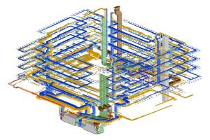3D-Darstellung eines Bauteils.