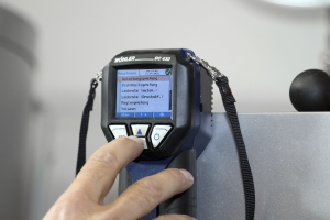 Display eines Druckmessgeräts.