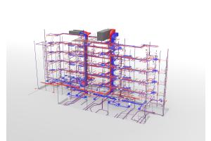 Durch den Einsatz einer Open-BIM-Planungssoftware konnten regelmäßige Kollisionsprüfungen durchgeführt und so zügige und reibungslose Abläufe auf der Baustelle sichergestellt werden.