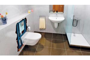 """Intelligente Lösungen für das kleine Bad: """"Saniwall Pro"""" von SFA Sanibroy."""