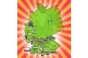 Karte der Route der Wave Trophy Rallye 2019.