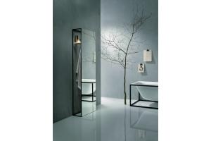 """Das Bild zeigt ein Badezimmer, das mit der """"BetteLux Shape""""-Serie von Bette ausgestattet ist."""