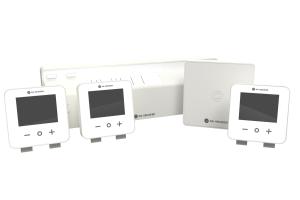 """Die Komponenten des Smart Home Regelsystems """"Aura Connect""""."""