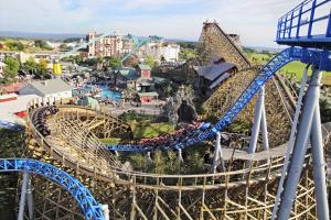 Ansicht des Europa-Park Rust von oben.
