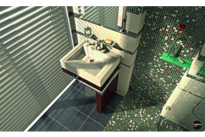 Das Bild zeigt einen geplanten Badausschnitt.