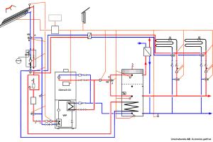 """""""Duo-Hybrid""""-Schaltschema: das Leistungsband umfasst Wärmepumpen-Solemodule mit 8, 11 und 16 kW thermischer Leistung, kombiniert mit einer Brennwerttherme (20, 30, 40 oder 50 kW). Damit lässt sich eine Gebäudeheizlast bis 50 kW decken. Selbstverständlich ist auch eine Kaskadierung möglich."""