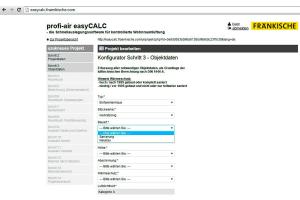 Das Bild zeigt die Software von Fränkische.
