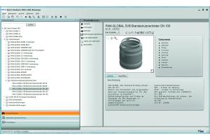 Das Bild zeigt die Saint-Gobain HES-Software.