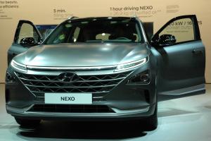 Hyundai informierte auf der IAA unter anderem über das in Serie gefertigte Brennstoffzellenfahrzeug Nexo.