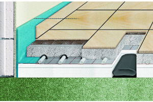 """Beim System """"Zewo Floor"""" werden die flexiblen, ovalen Flachkanäle für die Zu- und Abluft auf dem Rohfußboden in der Dämmebene installiert. Darüber kommen die Fußbodenheizung und der Heizestrich."""