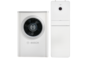 """Produktdaten von Heizsystem-Komponenten, wie der Luft/Wasser-Wärmepumpe Bosch-""""Compress 7000i AW"""", sind Voraussetzung, um die Technische Gebäudeausrüstung BIM-konform planen zu können."""