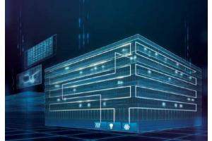 """Der """"Building Twin"""" führt dynamische und statische Daten aus unterschiedlichen Quellen in einem 3D-Modell zusammen. Er überbrückt die Grenze zwischen physischer und digitaler Welt mit Hilfe von Sensoren, die Echtzeitdaten in der realen Umgebung sammeln. So lässt sich die Leistung des Gebäudes live ermitteln, damit bei Bedarf sofort Anpassungen vorgenommen werden können, um zum Beispiel die Energieeffizienz oder Sicherheit zu steigern. Der """"Building Twin"""" liefert außerdem wertvolle Daten, welche die Planung zukünftiger Gebäude verbessern können."""
