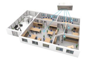 EVC zielt auf eine optimale Indoor Air Quality (IAQ) durch bedarfsgerechten Luftaustausch ab und koordiniert gleichzeitig die Systeme für das Heizen und Kühlen zu einem energieeffizienten Ganzen.