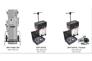 Die von BWT entwickelten Befüllwerkzeuge auf Basis der Umkehrosmose- Technologie.