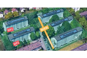 """Ein Vorhaben aus dem Paket """"LowEx-Bestand"""" betrifft die beispielhafte Realisierung eines komplexen Energieversorgungskonzepts für fünf ältere Mehrfamilienhäuser in Karlsruhe Durlach (""""Smartes Quartier Durlach"""")."""