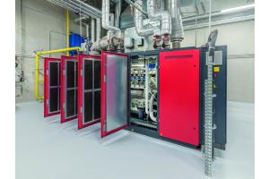 Das größte Modul im Portfolio von Bosch KWK Systeme: das BHKW leistet 400 kW elektrisch und 500 kW thermisch.