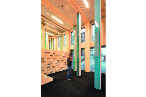 Das Foyer des LifeCycle Tower One