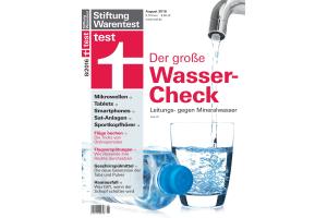 """Cover der Zeitschrift  """"test 08/2016""""."""
