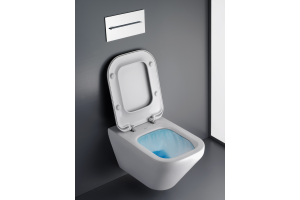 """Das Bild zeigt eine Toilette von Ideal Standard, die mit der neuen """"AquaBlade""""-Technoloigie ausgestattet ist."""