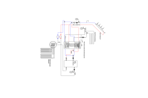 """Schema der Hydraulik des Roth """"Solargeo""""- Energiesystems."""