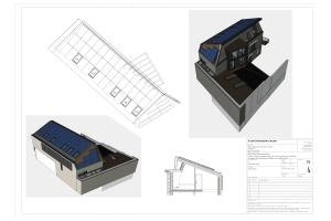 Plan einer Lagerhalle.